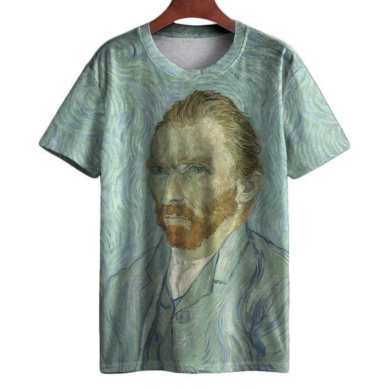 Camiseta Arte Artista Van Gogh Mestre Auto Retrato Noite