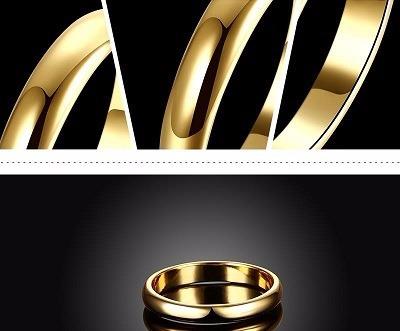Par De Aliança Cor De Ouro Compromisso De Noivado Casamento