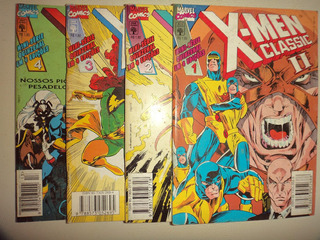 X Men Classic 2 Completa 1 2 3 4 Editora Abril 1995 Otimas