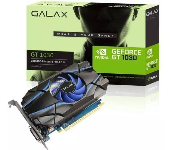 Placa De Vídeo Gt 1030 Galax 2gb Ddr5 64bit