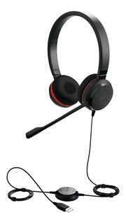 Auricular Headset Jabra Evolve 20 Duo Usb Call Center Jazz