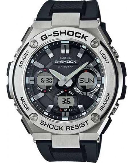 Relógio G-shock Masculino Aço Linha Metal Pulseira De Couro