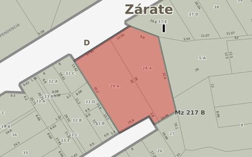 Propiedad En Venta En Centro Zarate Sobre Barranca. Oportunidad Inversión.