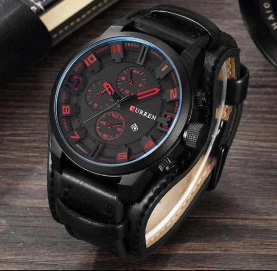 Relógio Curren Masculino Couro Original Modelo 8225