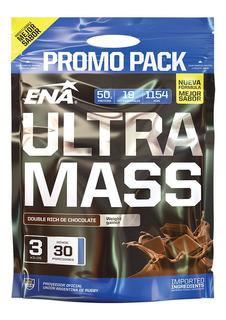 Ultra Mass Ena 3 Kg Ganador Peso Y Masa Promo Pack