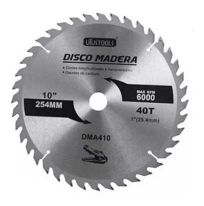 Disco Madera 254 Mm 10 Pulgadas De 40 Dientes Uyustools