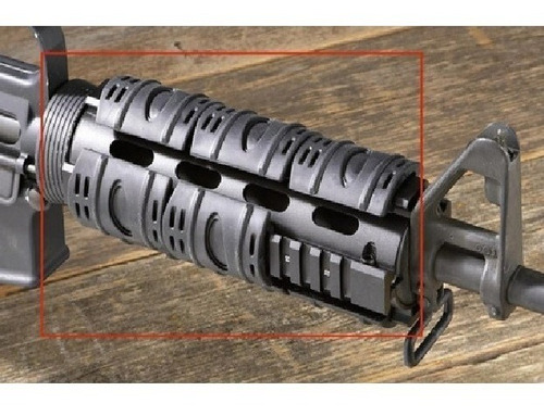 Imagen 1 de 5 de Gomas Esteticas Cubre Riel Picatinny Airsoft M4 Ak 20mm
