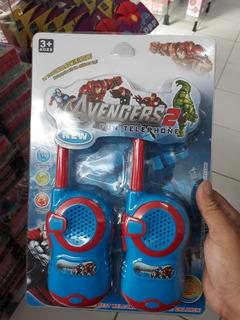 4 Kit Rádio Comunicador Infantil Herois Aventureiros 2