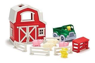 Juegos De Vehículos,juguete Green Toys Granja Playset..