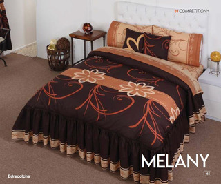 Colcha Queen Size + 2 Cojines Decorativos Melany Competition