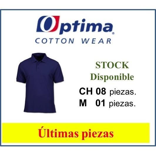 Playera Tipo Polo Marca Optima | Caballero Azul Marino