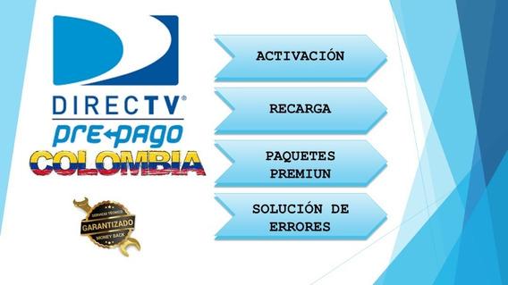 Recarga Activación Directv Colombiano Plan Basico Prepago Hd