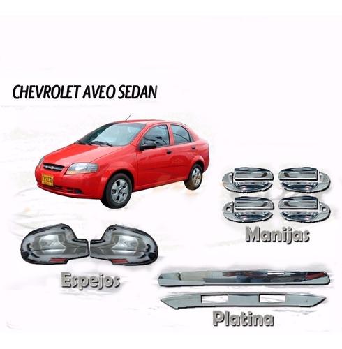 Kit Cromado Chevrolet Aveo Family - Sedan  Platina Trasera