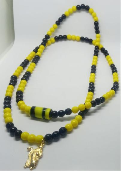 Guia De Omulu Amarelo E Preto Porcela 8mm