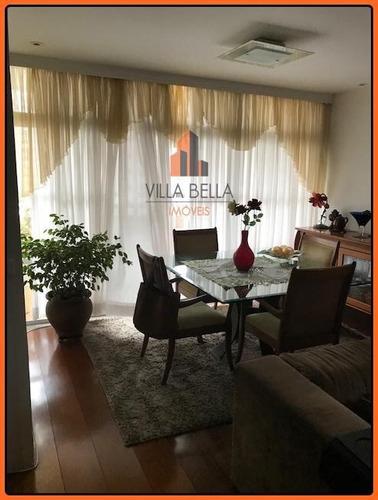 Apartamento Com 3 Dormitórios À Venda, 145 M² Por R$ 600.000,00 - Vila Bastos - Santo André/sp - Ap3746