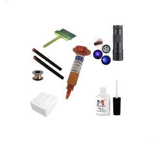 Kit Reparacion Celulares Pegamento Uv Removedor Luz Y Mas