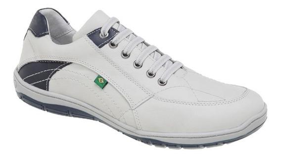 Tênis Azimute Brasil 5001 Casual Em Couro