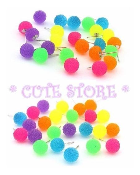 Brinco Bola Com Textura Coloridas Bolinha Fluorescente