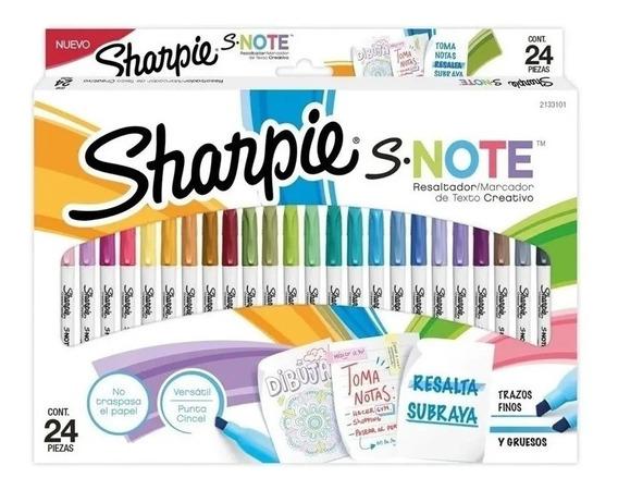 Marcadores Resaltadores Sharpie S-note Set 24 Piezas