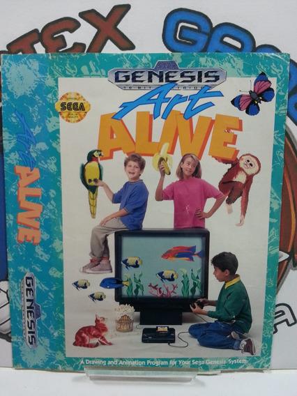 Para Genesis Mega Drive Encarte Capa Jogo Original Art Alive