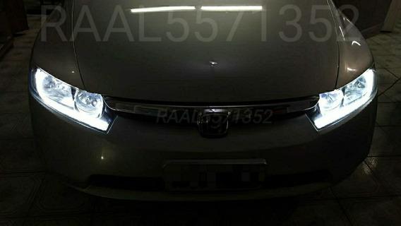 Barra Led Civic 60 Cm Flexível Farol Drl Angel Eyes 12v