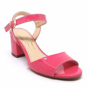 2fe667026d Sandalia Rosa Pink Salto Baixo - Sapatos no Mercado Livre Brasil