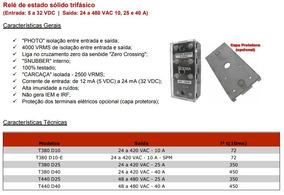 Rele Estado Solido 25a 3-32vdc 440v T-440d25 Trif. Ssr Soma