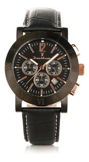 Relógio Pulso Jean Vernier Moderno Masculino Jv00248