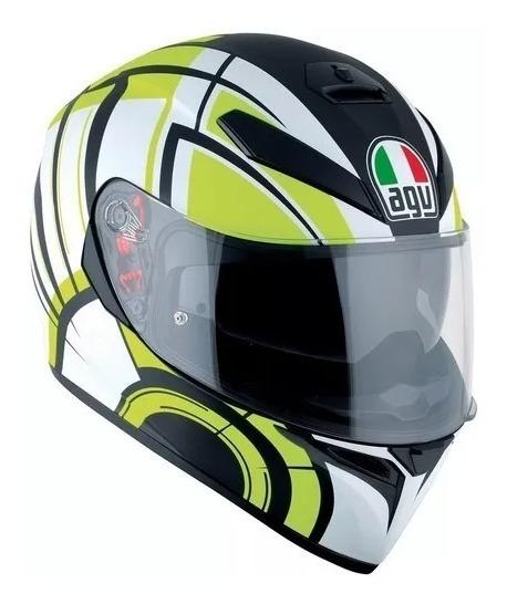 Casco Integral Agv K3 Sv Avior Matt White Lime Motos Miguel