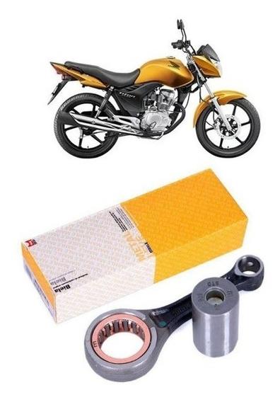 Biela Com Pino E Rolamento Honda Cg Titan Bros Fan 150 Bl9171 Original Metal Leve