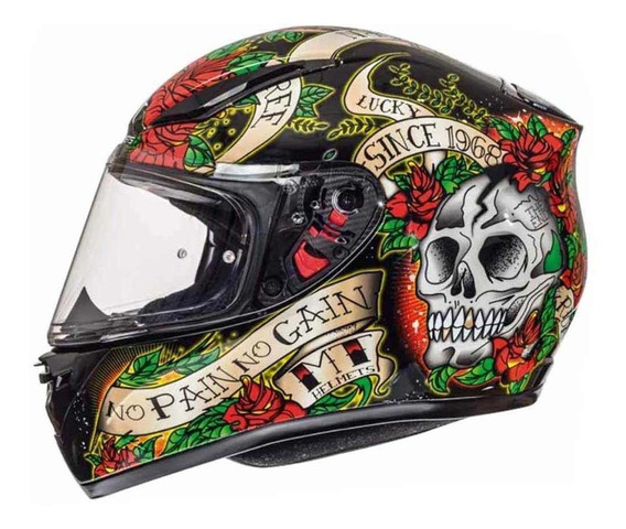 Capacete Mt Revenge Skull & Rose