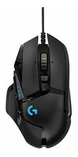 Mouse de juego Logitech Hero G Series G502 negro