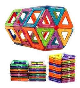 Brinquedo Educativo Magnético De Montar Imã 50pçs Família