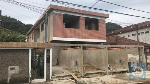 Casa Com 2 Dormitórios À Venda, 60 M² Por R$ 280.000,00 - Chico De Paula - Santos/sp - Ca0743