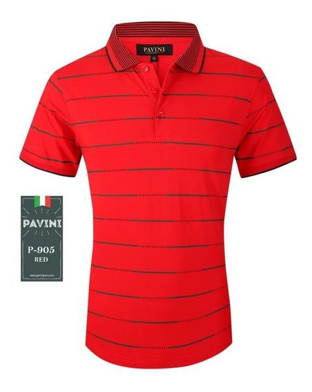 Playera Hombre Polo Marca Pavini Original P905 Roja ( 1 )
