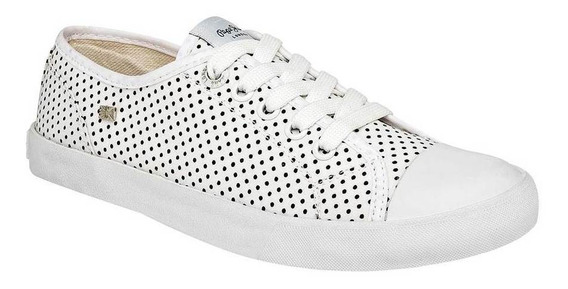 Tenis Pepe Jeans Collie 3910103 Color Blanco Mujer Shoes Pk