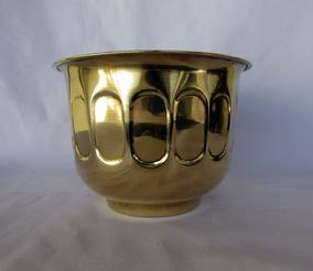 Vaso Cachepo Indiano Floreira Em Cobre Ou Latão Dourado