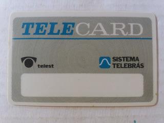Cartão Pioneiro Teste Telest Experimental Sistema Telebrás