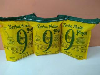 Yerba Mate Adelgazante 9 Yuyos. Pack X 3 Yerbas De 500 Gr