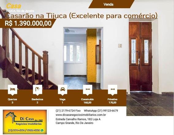 Casa Para Venda Em Rio De Janeiro, Tijuca, 3 Dormitórios, 2 Banheiros, 1 Vaga - 221