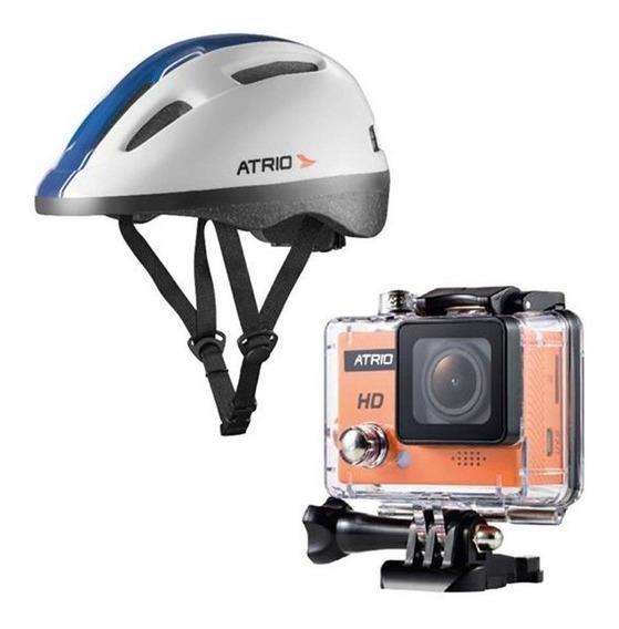 Câmera Ação Atrio Fullsport Hd Prova Agua + Capacete Brinde