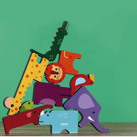 Brinquedo Educativo De Montar E Empilhar Animais