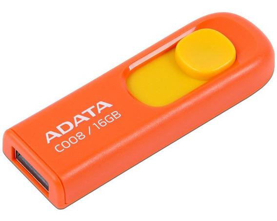 Unidad Flash Usb 2.0 Adata C008 De 16gb, Color Naranja.