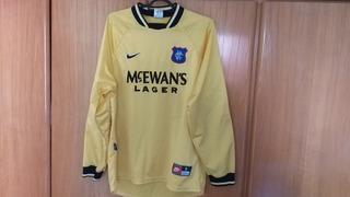 Camisa De Goleiro Nike Glasgow Rangers Original Nike 1998