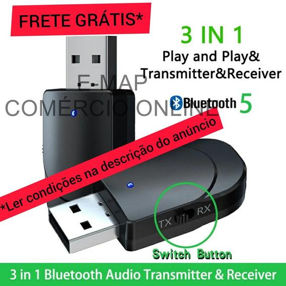 Adaptador Música Fone Ouvido Sem Fio Bluetooth P2 Usb Kn330