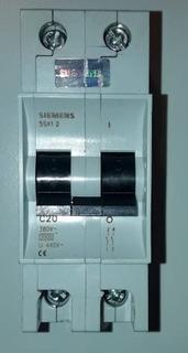 Llave Termica Bipolar 20a Siemens 5sx12220 Termomagnética
