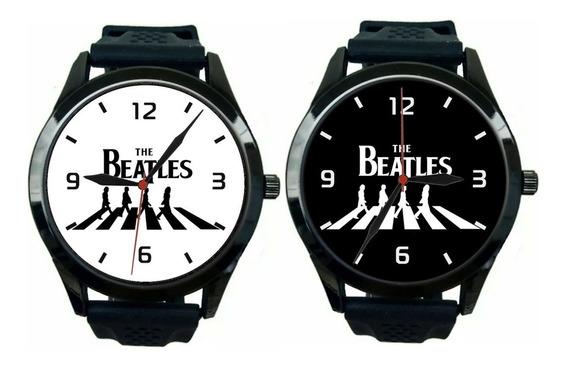 Kit 2 Relógios Pulso Esportivo The Beatles Barato Promoção