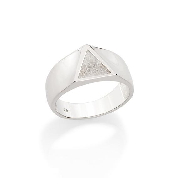 Anel Masculino Em Prata 925 Com Triângulo Rommanel 810202