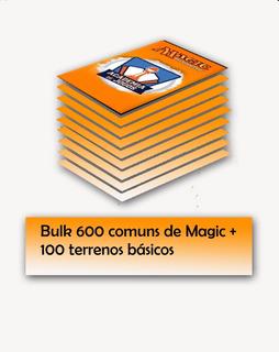 Bulk 600 Comuns De Magic + 100 Terrenos Básicos