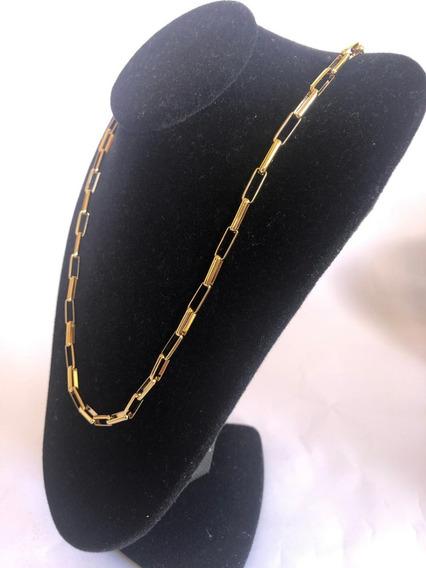 Cordão Veneziano Tijolinho Banhado Ouro 18k Promoção